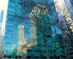 NYC layers (K Berit) Tags: street city nyc blue light ny newyork colors mirror layers holidaysvacanzeurlaub