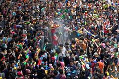 Full circle attack (N808PV) Tags: water festival circle gun bangkok attack celebration thai splash songkran silom bangrak rx100