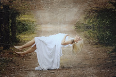 Transcend (Throughtheeyesofafairy) Tags: road woman nature fly sleep dream surreal sheets concept conceptual float