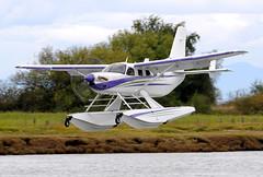 C-FTEL (John W Olafson) Tags: vancouver amphibian landing fraserriver seaplane telus pt6 questkodiak cftel
