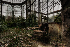 take a seat and watch the green grow... (Infinitum Photography & Design (TaskevdH)) Tags: urban abandoned chair greenhouse urbanexploration urbex gardenhouse infinitum