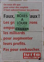 Faux, faux, faux ! (emmanuelsaussieraffiches) Tags: poster political politique affiche lutteouvrire