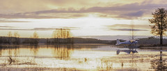 Adventure time (Trisd) Tags: morning sunrise finland landscape jones nikon time g indiana adventure mm nikkor 18 50 find seaplane joensuu nosleep hydroplane d300 pielisjoki