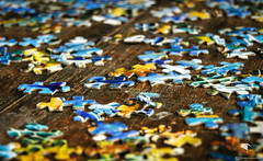 Puzzled (REA // Photography) Tags: stilllife puzzle jigsaw puzzles solution jigsawpuzzle solve puzzlepieces