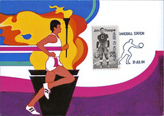 postcard - Los Angeles 1984 Summer Olympics 5 (Jassy-50) Tags: california sports losangeles football postcard stamp torch olympics athlete runner fullerton jimthorpe postagestamp prepaid olympictorch summerolympics maxicard 1984summerolympics robertpeak losangelessummerolympics olympicsstamp losangeles1984summerolympics