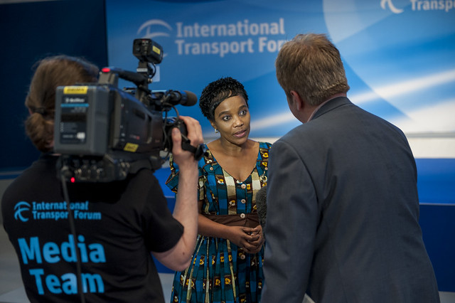 Lydia Sindisiwe Chikunga speaks to the international media after the plenary