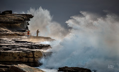 Crash (Mike Hankey.) Tags: seascape sunrise grey focus published surf maroubra hightide