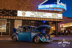 Downtown Bug (Eric Arnold Photography) Tags: vegas blue signs sign vw night truck bug volkswagen marquee twilight downtown neon lasvegas beetle fremont hood bluehour type1 dtlv fremonteast