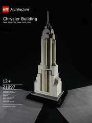 Chrysler Building ([E]ddy) Tags: nyc white building tower architecture miniature lego chrysler chryslerbuilding moc miniatuur legoarchitecture