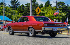1966 SS 396--DSC00025--Port Orford, OR (Lance & Cromwell back from a Road Trip) Tags: 20164thofjuly 4thofjuly 4thofjulyjubilee 2016 parade portorford highway101 currycounty oregon oregoncoast sony sonyalpha ss396 chevy chevrolet 1966 chevelle musclecar supersport