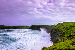 IMG_1519 (Kantisimo) Tags: cliffs moher ireland sea clouds water rocks color dark landscape nature travel coast rippled ocean