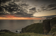 A LONG WAY DOWN (lynneberry57) Tags: light sky lighthouse seascape colour nature water beautiful clouds sunrise canon landscape coast cliffs 70d leefilters stabbsheadlighthouse