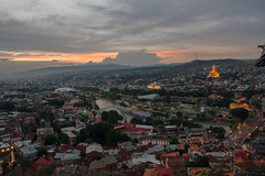 Beautiful Chaos (Ali Sabbagh) Tags: sunset view landscape light canon eos7d wide angle travel world photography sky colors wallpaper georgia tbilisi