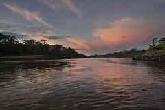 River Sunset (codeshop) Tags: sunset peru water clouds river pastel scenic pinkclouds riversunset riotambopata pastelsunset