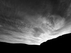 Sunset Clouds, Glenshee (spodzone) Tags: camera light sky blackandwhite sunlight art nature monochrome beautiful lines clouds manipulated lens landscape photography scotland dynamic glenshee emotion unitedkingdom space horizon perthshire aspiration dramatic places equipment zen vista beyond backlit amazement moment awe striking fleeting simple toned pure contrasts goldenhour filaments turbulence lightanddark elegance uplifting transience gbr digikam tonemapped olympuspenf skyearth shapeandform cloudappreciation rawconversion spacefilling rawtherapee meaningemptiness abstractqualities olympus714mmf28