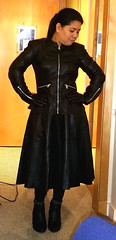 Leather Mistress (johnerly03) Tags: leather hair asian long boots philippines skirt jacket gloves filipina erly