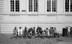 "Brugge, Belgium (Sailing ""Footprints: Real to Reel"" (Ronn ashore)) Tags: street leica people bw film 35mm brugge elderly leicam7 primelens peopleinthecity leica50mmf2summicronrigid adoxsilvermax"