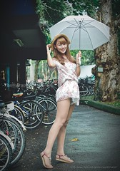 jaylin-0009 ( Jaylin) Tags: school portrait girl hat rain studio outside glasses model women university longhair taiwan straw olympus oldhouse dresses taipei mirco turf omd   jaylin m43   40150mm mzd  jelin      linjay