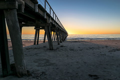 The Jetty 1 (Norma Martiri) Tags: australia jetty adelaide port sun sunset gold golden hour dusk beach sea ocean sand