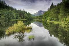 Lochan reflections (OutdoorMonkey) Tags: glencoe lochan loch lake water reflections woodland wood trees forest mountain beinnabheithir scotland nature outside outdoor countryside rural landscape waterscape
