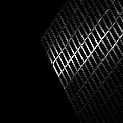 Reduction (One_Penny) Tags: bayern deutschland germany mnchen architecture bavaria canon munich photography canon6d light dark lines structure shapes abstract minimal building empty emptyspace square format squareformat crop highlighttowers urban modern design windows black white blackandwhite pattern