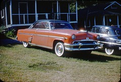 1954 Mercury Monterey at Car Club (rich701) Tags: vintage 35mm color 1950s langhorne pa pennsylvania carclub automobileclub 1954mercury bthriftyfoods texaco youcantrustyourcar