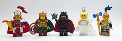 Kings figbarf (Magma guy) Tags: lego minifigs figbarf these little bit inspired by song ice fire characters from left right robert baratheon tywin lannister greatjon umber cersei hizdahr zo lorakh