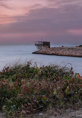 Trabucco del Gargano (Emykla) Tags: italia italy puglia apulia 2016 estate summer trabucco sunset tramonto cielo sky nuvole clouds mare sea adriatico south sud nikon d3100 seascape fishing pesca scialmarino vieste