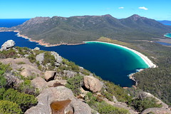 Wineglass Bay, Tasmania. (Cale McMillen) Tags: tas tasmania australia canon eos 650d slr travel photography klr 650 moto motorbike apple isle hobart wineglass bay russell falls cradle mountain mount field