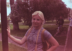 (VeronikaMagic) Tags: film life walk entertainment town orenburg russia city view lomo lomography street portrait young blond woman girl summer spring light day sunny