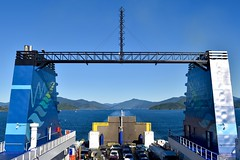 Leaving South Island on the Interislander