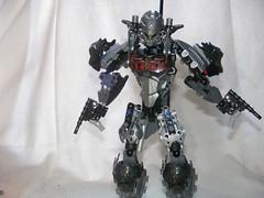 The Adversary 3 (quartzroolz) Tags: quartz roolz moc big burly man bionicle robot toa titan android bustersword guns skull spider mask god thats alot over design