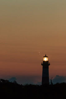 Venus and Jupiter Setting Over The Bodie Lighthouse