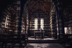 light for sinners II (cherryspicks (off)) Tags: portovenere church worship architecture building catholic laspezia italy gulfofpoets stpeter altar interior light person pilgrim woman prayer metaphysical