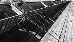 Tren de carbn (@bokehpa) Tags: railroad blancoynegro train canon nebraska lexington railway rails perspectiva coal 2008 freighttrain puntodefuga