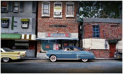Downtown 1950's 2 (gpholtz) Tags: ford miniatures 1958 88 1950 diorama fairlane oldsmobile 118 diecast