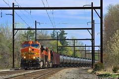 CSXT K038 @ Yardley, PA (Darryl Rule's Photography) Tags: train pennsylvania trains mow oil catenary csx yardley trackwork csxt readingrailroad lowermakefield q418 oiltrain k040 liteengines stonyhillrd trentonsub