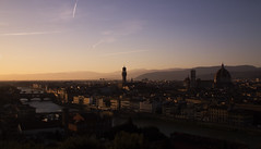 DSCF5167 (Maria Rosaria Bleve) Tags: sunset panorama landscape florence ponte firenze duomo arno vecchio