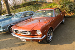 Mustang (xwattez) Tags: auto park old france ford car square automobile jardin voiture american mustang transports toulouse ancienne 2015 rtro vhicule rassemblement amricaine grandrond boulingrin
