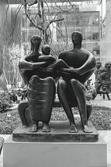 "Henry Moore : ""Family Group"" MoMA, NYC. (setpower1) Tags: nyc newyorkcity bw sony moma museumofmodernart kodaktrix henrymoore minoltamaxxum7 kodakxtol"