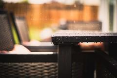 "Precipitation [15:31] ""Nifty 50 May"" (rrooffuss) Tags: water rain weather corner canon table chair raindrops canon50mmf18 precipitation niftyfifty canon5dmarkiii nifty50may"