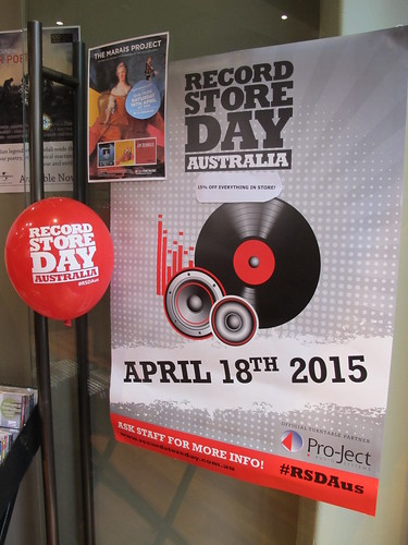 Record Store Day 2015: Poster on Door