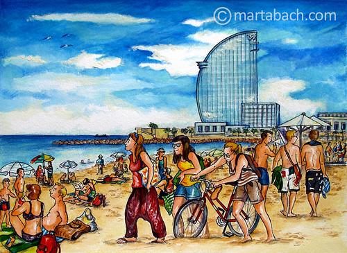 marta_bach-Barceloneta_p