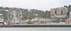 Torquay Ferris wheel May 2015 9 (Bristol Viewfinder) Tags: trees station wheel coast trains ferris palm swans devon seafront torquay beachhuts firstgreatwestern thegrandhotel englishriviera