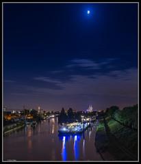 Kln / Cologne (rapp_henry) Tags: night river harbor nikon nacht kathedrale cologne kln bluehour hafen fluss rhein d800 blauestunde 2470mm28 earthnight