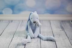 p365/152. (Pics by Susanna) Tags: blue baby rabbit bunny toy stripes nursery plush striped day152 babytoy bluebackground whitefloor happyhorse day152365 whitewoodenfloor bluebokehbackground 365the2015edition 3652015 1jun15 bluebookedbackground happyhorsetoy
