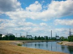 Chernobyl Reactors, Ukraine (DJLeekee) Tags: fish statue metal landscape 4 ukraine chi catfish sarcophagus radioactive tribute ney reactor chernobyl reactor4 gigercounter