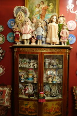 In my entrance hall... (Primrose Princess) Tags: antique french german bisque dolls antiquedolls frenchantiques oldparis sevres dresden antiqueporcelain frenchfurniture halfdolls princess tiara crown chandelier parisstyle
