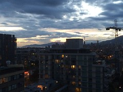 IMG_2529 (Sweet One) Tags: sunset dusk vancouver bc britishcolumbia canada myapartment view rooftop