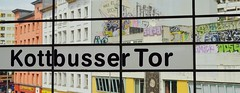 Kottbusser Tor (J @BRX) Tags: window station metro ubahn kottbusser bahnhof berlin germany deutschland streetphotography july2016 summer graffiti artwork streetlife